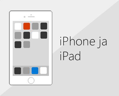 Klõpsake Office'i ja meili häälestamiseks iOS-i seadmetes