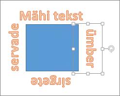 WordArt-objekti lisamine sirgete servadega kujundi ümber