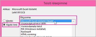 Vali Microsoft Excel