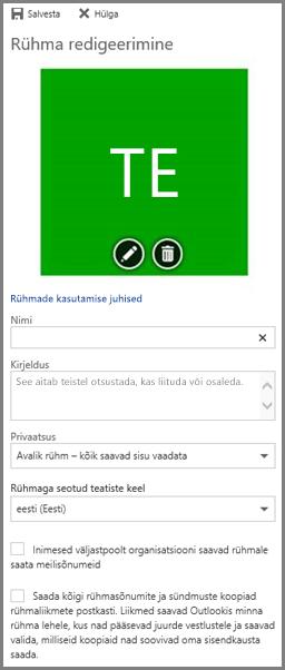 Oma ettevõtte Office 365 rühmade kasutamisjuhiste kuvamiseks valige rühmade kasutamisjuhised