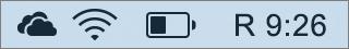 OneDrive'i ikoon Maci süsteemisalves