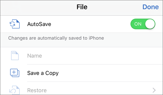 Tap File, then Duplicate to save a document with another name
