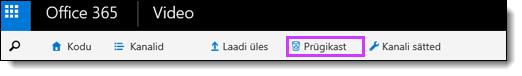 Office 365 videoportaali prügikast