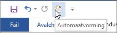 Automaatvormingu ikoon