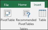 PivotTable-liigendtabel
