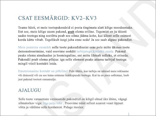 Vesimärgi mustand lisamine lehele tekstiga näide