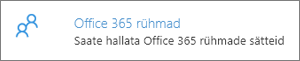 Office 365 rühmad