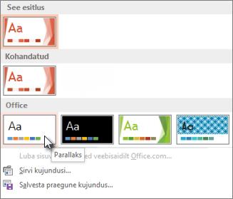 Office'i kujunduse valimine