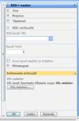 RSS-i vaaturi tööriistapaan