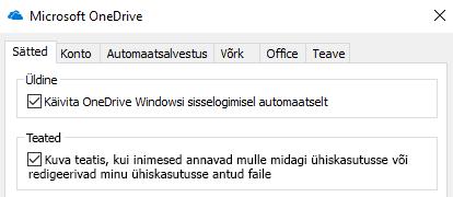 Keelamiseks kõik teatised ühiskasutusega OneDrive'i failide minna oma OneDrive'i rakenduse sätete ja välja lülitada.