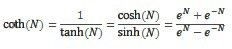 Funktsiooni COTH võrrand