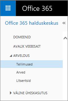 Link Office 365 Small Business Premiumi lehele Tellimused