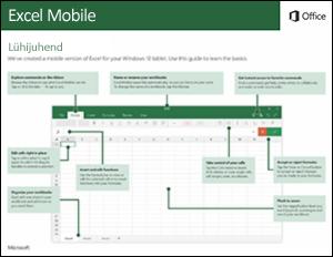 Excel Mobile'i lühijuhend