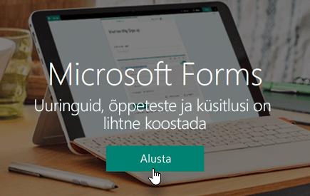 Nupp Alustamine Microsoft Formsi avalehel