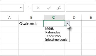 Näidisripploend Excelis
