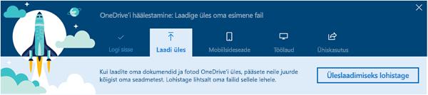 kuvatõmmis Office 365-s OneDrive for Businessi esmakordsel kasutamisel kuvatavast OneDrive'i juhendavast tutvustusest