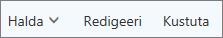 Outlook.com-i käsuribal saate kontakte hallata, redigeerida või kustutada