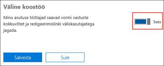 Microsoft Formsi koostöösäte