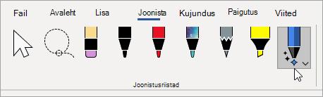 Valige tööriista Ink Editor