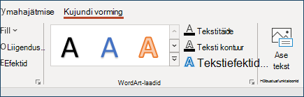 Jaotis WordArt-laadid