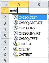 Excel 2010 funktsioonid