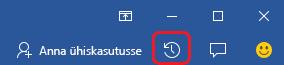 Wordis, Excelis ja PowerPointis asub nupp Tegevus lindi parempoolse serva lähedal.
