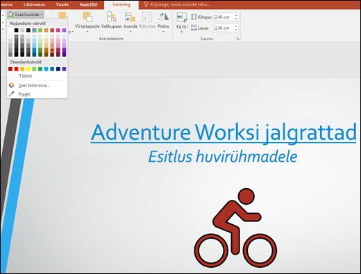 SVG-pildi värvi muutmine tööriistaga Graafikatäide