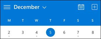 Kalendri tööriistariba