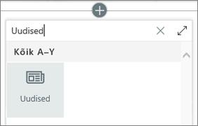 Veebiosa veebitööriistade uudiste veebiosa