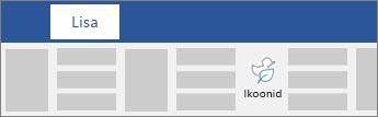Võimalus lisada ikoonid lindil