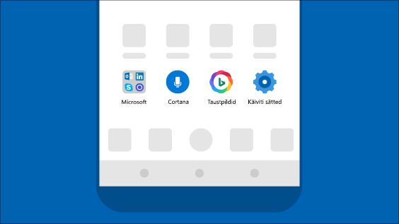 Microsoft võimaluste toomine Androidi telefoni rakenduse Microsoft Launcher abil