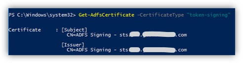 Get-ADFSCertificate