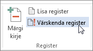 Registri värskendamine