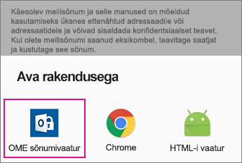 OME Sõnumivaatur Gmailiga Androidi 2