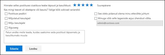Teenuseseisundi probleemide tagasisidevorm
