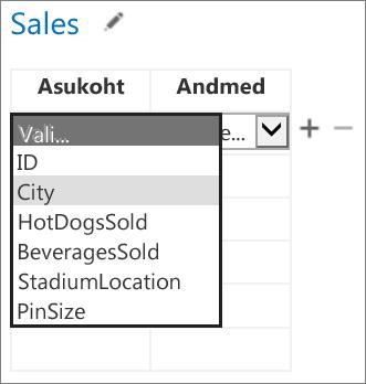Office'i minirakenduse jaoks andmete valimine Accessi rakenduses kuvamiseks
