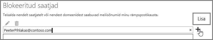 Outlook Web Appis saatja blokeerimine