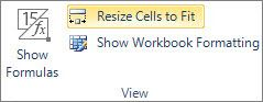 Resize Cells