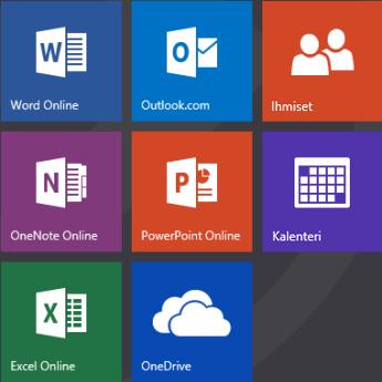 Office.com-aloitusnäyttö