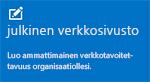 Järjestelmänvalvojien aloitusruutu--Julkinen verkkosivusto