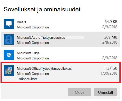 Microsoft Office -työpöytäsovellukset