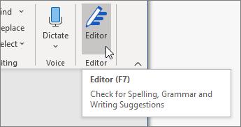 Avaa Tekstin korjaustoiminnot -ruutu valitsemalla Tekstin korjaustoiminnot Aloitus-välilehdessä tai painamalla F7.