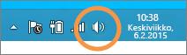 Tarkenna tehtäväpalkin Windows-kaiuttimien kuvakkeeseen