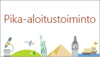 PowerPoint 2016:n Pika-aloitustoiminto-malli luo jäsennyksen haluamastasi aiheesta.