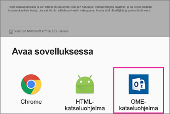 OME Viewer ja Androidin sähköpostisovellus 2