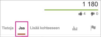 Valitse YouTubessa Jaa