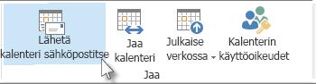 Kalenterin lähettäminen sähköpostitse