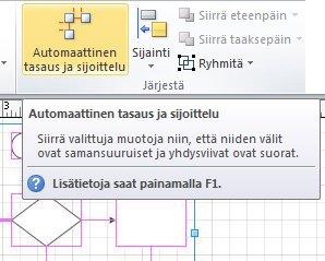 Automaattinen tasaus ja välistys -painike