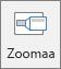 Näyttää Zoomaa-painikkeen PowerPointin Lisää-välilehdessä.