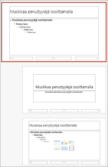 PowerPoint for Macin dian perustyyli